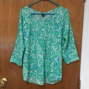 Floral blouse long sleeves, Ann taylor